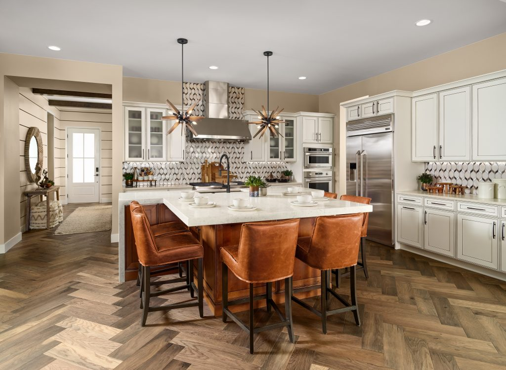 Shea Homes Retreat model kitchen at The Canyons in Castle Pines, CO