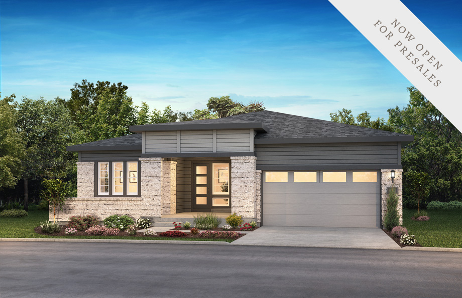 Shea Homes Retreat Collection Enclave Elevation Rendering at The Canyons in Castle Pines