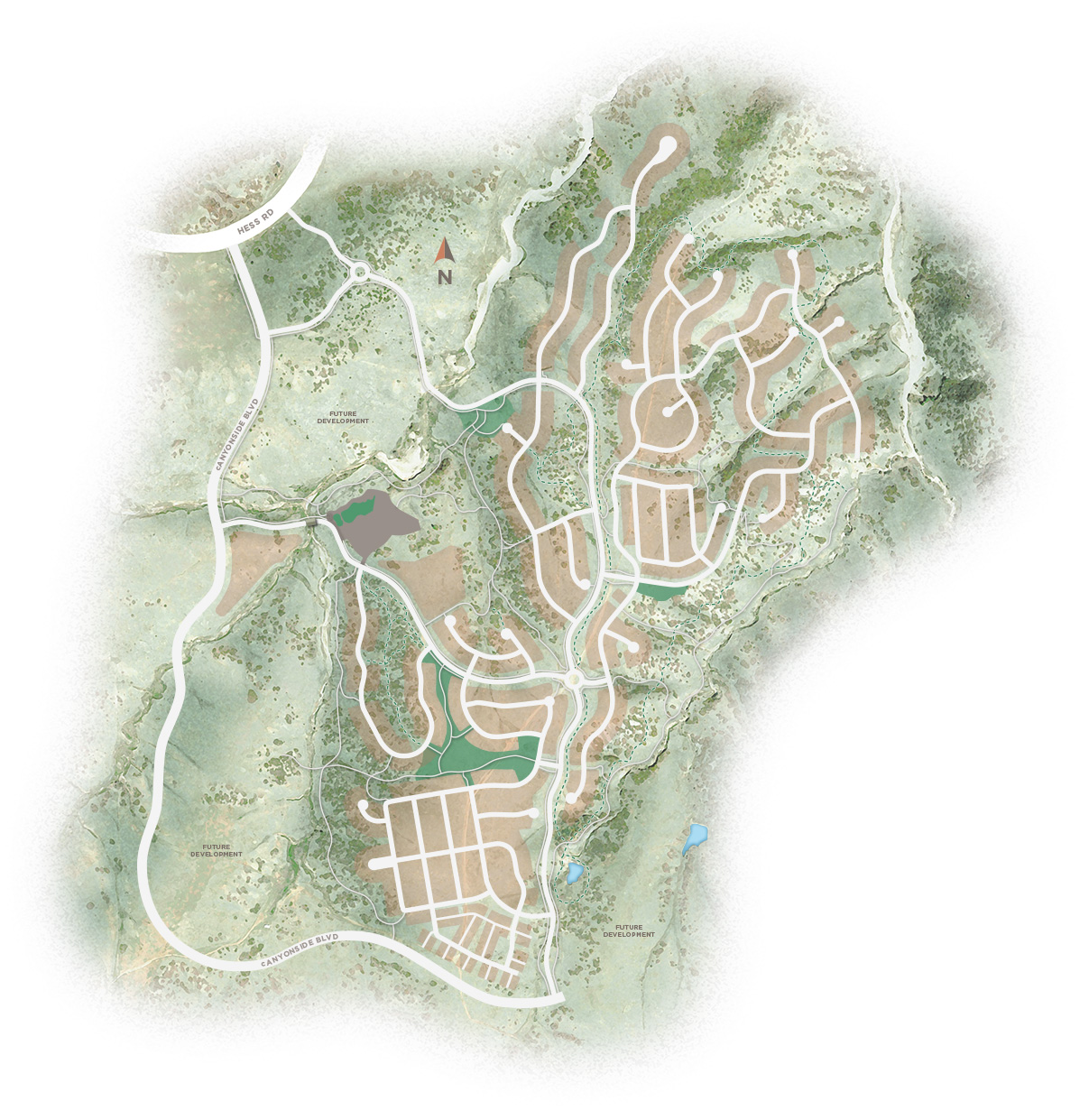 Area map of The Canyons, a new home community in Castle Pines, CO