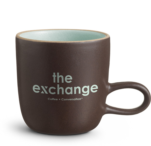 Coffee mug from The Exchange Coffee House | Opening 2019 | The Canyons, a new home community in Castle Pines, CO