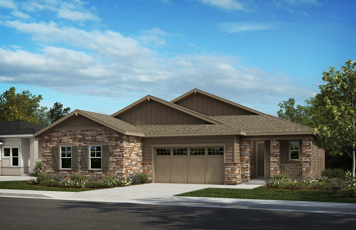 KB Home Inspire Collection Elevation Two Home Rendering | The Canyons New Home Community in Castle Pines, CO