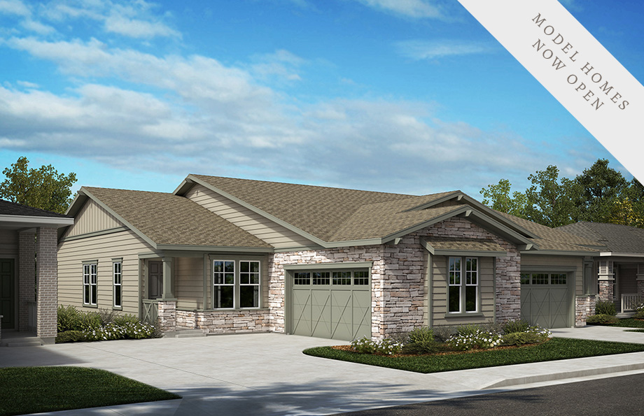 KB Home Inspire Collection Elevation Three Home Rendering | The Canyons New Home Community in Castle Pines, CO
