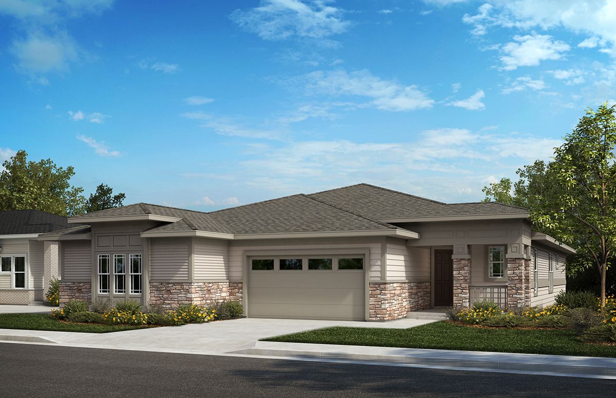 KB Home Inspire Collection Elevation Four Home Rendering | The Canyons New Home Community in Castle Pines, CO