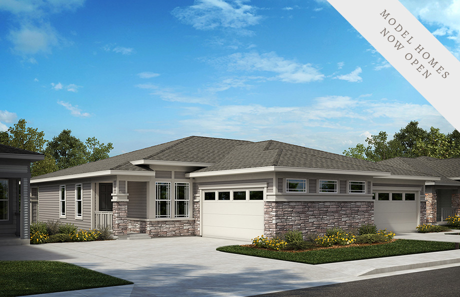 KB Home Inspire Collection Elevation Home Rendering | The Canyons New Home Community in Castle Pines, CO