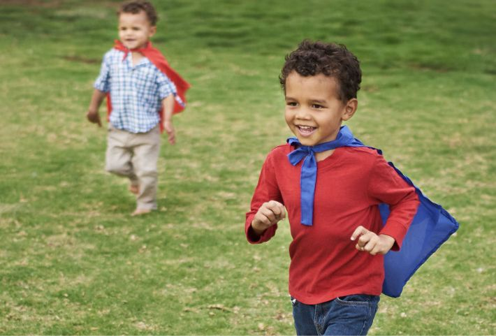 Children playing in a park | Ramble Park at The Canyons | A new home community in Castle Pines, CO