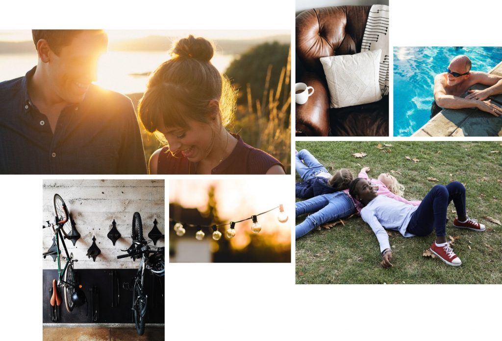 An image collage of people enjoying life | The Canyons | A new home community in Castle Pines, CO
