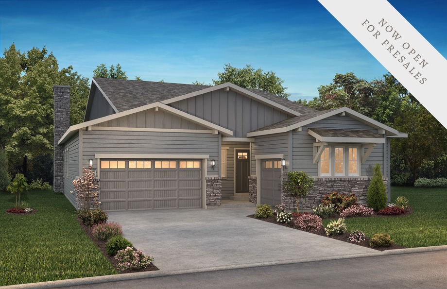 Shea Homes Retreat Collection Legacy Elevation Rendering at The Canyons in Castle Pines