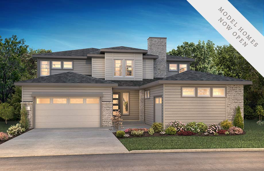Stonehaven Exterior of Shea Homes Luxe Collection at The Canyons, Castle Pines