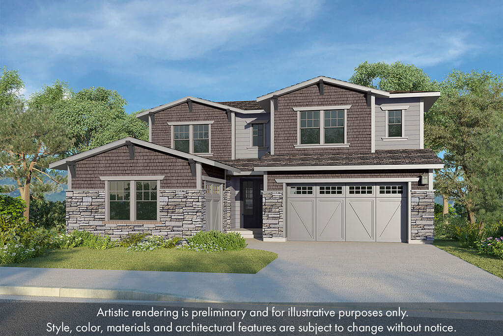 Tri Pointe Homes Solis Rendering | The Canyons New Home Community in Castle Pines, CO